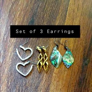 Set of 3 Earrings